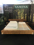 Altholz Fichtenbalkenbett, gebürstet und farblos geölt