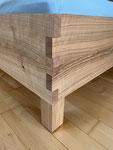 Massivholzbett Kirchbaum, metallfreie Bettverbindungen
