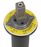 Bei der Verwendung von Kugelhähnen kann ein Stellrichtungsanzeiger auf den Betätigungsvierkant aufgesteckt werden.