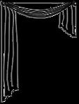 Lambrequin drapé asymétrique