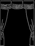 Lambrequin froncé vertical