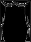 Lambrequin drapé double croisé