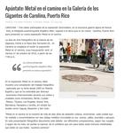 Periódico Presencia (digital version). October 18, 2016 (http://www.presenciapr.com/apuntate-metal-en-el-camino-en-la-galeria-de-los-gigantes-de-carolina-puerto-rico/)