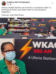 Interview with Rubén Sánchez (La entrevista de frente) WKAQ 580. Guaynabo, Puerto Rico. October 21, 2020