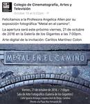 Facebook CCAT- Colegio de Cinematografía, Artes y Televisión. October 13, 2016