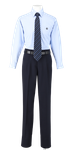 徳島科学技術高校男子合い制服(長袖カッターシャツ着用)