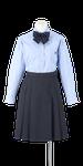 徳島科学技術高校女子合い制服(長袖ブラウス着用)