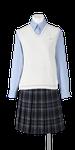 城東高校女子夏制服(コットンベスト着用)