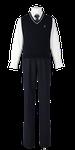 川島高校男子合い制服(ニットベスト着用)
