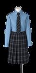 城東高校女子合い制服(長袖ブラウス着用)