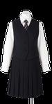 富岡東高校女子合い制服(長袖ブラウス着用)