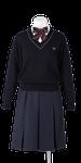 城ノ内中等教育学校女子合い制服(セーター着用)