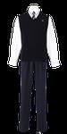 城西高校男子合い制服(ニットベスト着用)