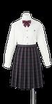 鳴門渦潮高校女子合い制服(長袖ブラウス着用)