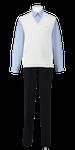 城東高校男子夏制服(コットンベスト着用)