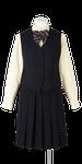 富岡東中学校合い制服(長袖ブラウス着用)