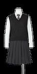 城南高校女子合い制服(ニットベスト着用)