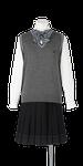 城北高校女子合い制服(ニットベスト着用)