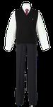 鳴門渦潮高校男子合い制服(ニットベスト着用)