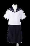 名西高校女子夏制服(半袖セーラー着用)