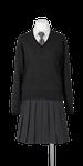 城南高校女子合い制服(セーター着用)