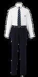 城西高校男子合い制服(長袖カッターシャツ着用)