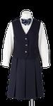 城ノ内高校女子合い制服(前開きベスト着用)