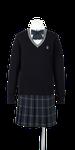 吉野川高校女子合い制服(セーター着用)