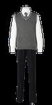 城北高校男子合い制服(ニットベスト着用)