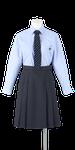 徳島科学技術高校女子合い制服(ネクタイ着用)