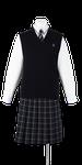城西高校女子合い制服(ニットベスト着用)