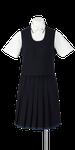 小松島西高校女子夏制服(かぶりベスト着用)