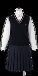 川島中学校合い制服(ニットベスト着用)