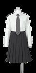城南高校女子合い制服(長袖ブラウス着用)