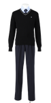 徳島科学技術高校男子合い制服(セーター着用)