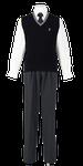 吉野川高校男子合い制服(ニットベスト着用)