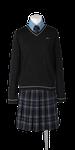 城東高校女子合い制服(セーター着用)