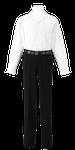 名西高校男子合い制服(長袖開襟シャツ着用)