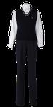 川島中学校男子合い制服(ニットベスト着用)