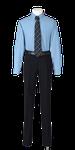 城東高校男子合い制服(長袖カッターシャツ着用)