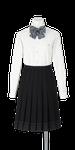 城北高校女子合い制服(長袖ブラウス着用)