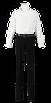 小松島西高校男子合い制服(長袖カッターシャツ着用)