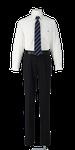 城ノ内高校男子合い制服(長袖カッターシャツ着用)