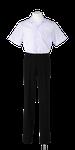 名西高校男子夏制服(半袖開襟シャツ着用)