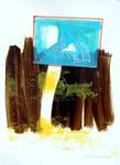 025 D 02 Del Donno Antonio, 2000, Italia, cartone, tecnica mista, 50x70 cm.