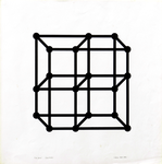 047A Nelva Giorgio - S.A.  71.11 (Struttura assurda), 1969-1971 Italia cartone serigrafia 73/75 50x50 cm.