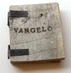 025 C Vangelo secondo  Matteo - 1989, Italia, opera in legno con  scrittura a fuoco su legno 30x40 cm. 1 copia della serie in esposizione permanente al Anchivio Sackner, Miami Beach