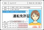 運転免許証(仮免可)