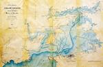 """1853 """"Plano General de la Bahía de Santander levantado por los ingenieros del muelle de Maliaño bajo la dirección de P.E. Wissocq"""" (norte abajo)"""
