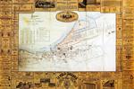 """1880 """"Plano industrial y comercial de la Ciudad de Santander"""" (norte abajo)"""